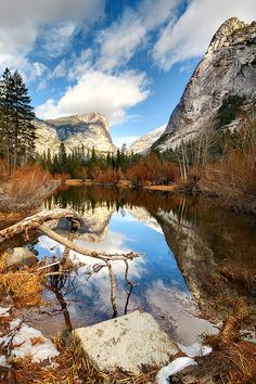 Mirror lake  Photograph by Stephen Davis.