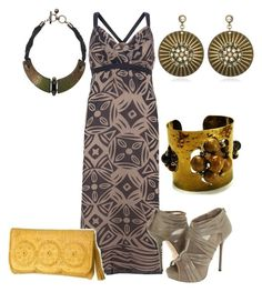 Maxidresses by outfits-de-moda2 on Polyvore featuring moda, Mint Velvet, L.A.M.B., Jack Rogers, Fantasy Jewelry Box, Gerard Yosca and Lanvin