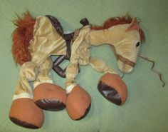 Childrens HORSE Riding COSTUME TAN Size 4 to 6X Adjustable Straps HALLOWEEN Plus…