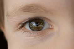 Beautiful child eye closeup