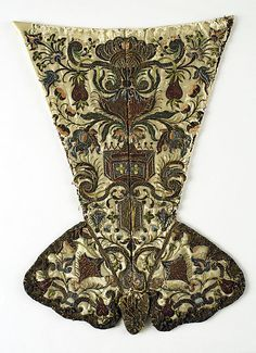 Stomacher, early 18thC, Italian, Silk