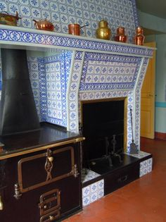 Blue Tiled Kitchen, Monet's Home in Giverny