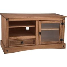 Buy Living Puerto Rico TV Entertainment Unit - Dark Solid Pine at Argos.co.uk - Your Online Shop for Entertainment cabinets and units.