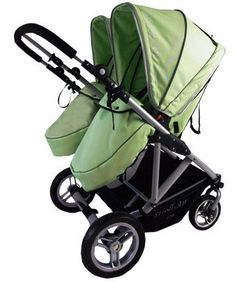 ee20ed7c8a4 My Duo Double Twin Stroller - Green by Stroll Air at Toys and Stuff.  Francais Baby Blog