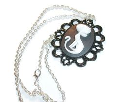 Art Deco Kitty Cameo Necklace. Starting at $7