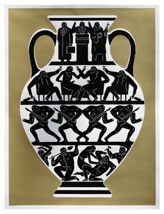 """Trump 2017"" 2-color gold edition screenprint by Cleon Peterson. $150"