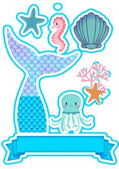 Birthday Decorations, Birthday Party Themes, Happy Birthday, Mermaid Theme Birthday, Cake Designs, The Little Mermaid, Diy Crafts, Cards, Instagram