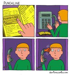 Punchline Visual Puns, Humor, Comics, Art, Art Background, Humour, Kunst, Funny Photos, Cartoons