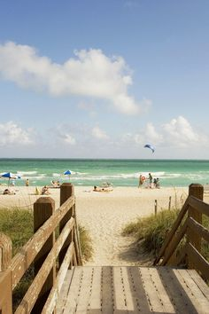 Beach access from the hotel is just across Collins Avenue. #Jetsetter Circa 39 Hotel (Miami Beach, Florida)