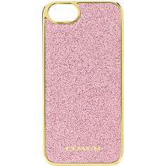 COACH iPhone® 5 Case In Glitter Inlay Molded Plastic I WANT, I WANT I WANT