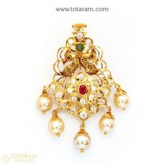 Gold Pendants - View and shop our collection of gold pendants made in India - Indian Gold Jewelry - Buy Online India Jewelry, Gold Jewelry, Beaded Jewelry, Jewelery, Women Jewelry, Fashion Jewelry, Gold Necklaces, Indian Wedding Gifts, Gold Hair Accessories