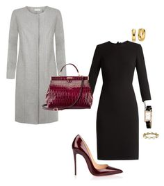 """Work"" by cgraham1 on Polyvore featuring MaxMara, Christian Louboutin, Aspinal of London, Hermès and Jade Trau"