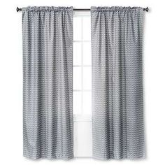 light blocking curtain panel gray chevron 42x84 room essentials