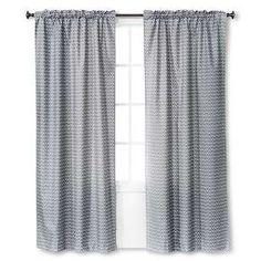 light blocking curtain panel gray chevron 42x84 room essentials