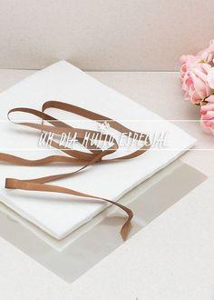 Kit de Embalagem para Bem-casado Branco/Marrom (120 unds Papel Crepom + 120 unds Celofane + 100m Fita de Cetim Preto 7mm)