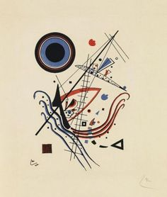 Blue Artist: Wassily Kandinsky Completion Date: 1922 Place of Creation: Germany Style: Abstract Art Genre: abstract painting Technique: lithography Material: paper Dimensions: 21 x cm Gallery: Norton Simon Museum, Pasadena, CA, USA Kandinsky Art, Wassily Kandinsky Paintings, Abstract Words, Abstract Art, Kunst Poster, Constructivism, Abstract Expressionism, Art History, Modern Art