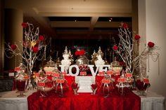 Red and Silver Candy Buffet - Style My Celebration  www.stylemycelebration.com.au