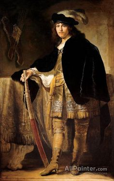 Ferdinand Bol,Portrait Of A Young Man With A Sword oil painting reproductions for sale