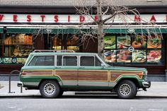 I love this green with the wood panels! #jeep #wagoneer