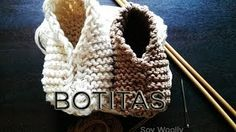 YouTube Baby Knitting Patterns, Baby Hats Knitting, Knitting For Kids, Knitting Projects, Crochet Projects, Crochet Patterns, Knit Baby Shoes, Knit Baby Booties, Crochet Shoes