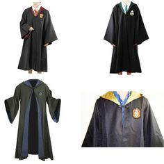Harry Potter Gryffindor/Hufflepuff/Slytherin/Ravenclaw School Costume Tie/Robe