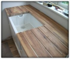 Belfast Sink and Oak Drainer