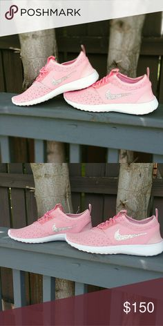 Pink nike juvenate New in box 100% authentic swarovski crystals Nike Shoes Sneakers