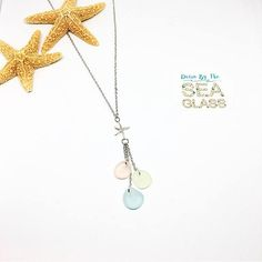 16k plated White Gold Starfish Necklace with Three Genuine Sea