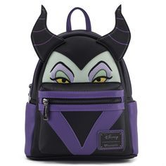bb5f7027f19f Loungefly x Maleficent Faux Leather Mini Backpack - Backpacks - Disney -  Brands