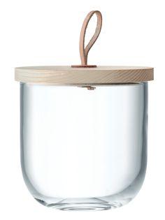 Bocal en verre et couvercle en frêne Ivalo 15,5 cm