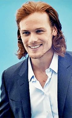 Sam Heughan, such a beautiful, elegant man.  If I'd have to cast someone as Bill or Charlie Weasley in the Harry Potter movies he'd have gotten my vote!!!!!