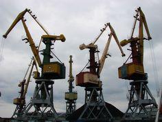 Port cranes in Ventspils.