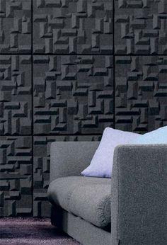 Panneau d 39 absorption acoustique en mousse pour plafonds - Revetement mural acoustique absorption ...