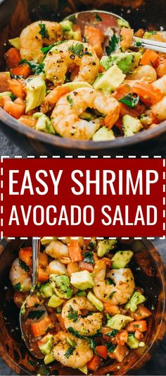 Heres a delicious and healthy cold shrimp salad with avocado tomatoes feta cheese and lemon juice. dressing / summer / appetizer / fried / southwest / weight watchers / simple / whole 30 / cooked / citrus / fresh / meal prep / best / dip / ideas / ski Shrimp Avocado Salad, Avocado Salat, Salad With Shrimp, Feta Salad, Prawn Salad, Cold Meals, Healthy Appetizers, Seafood Appetizers, Keto Snacks