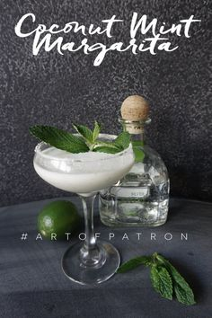 Celebrating @patrontequila's Art of Patrón Contest with a Coconut Mint Margarita recipe! ‪#‎ArtofPatron‬ It's so, so good!