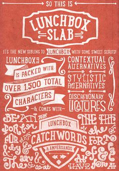 Check out the newLunchbox Slabtypeface, from Kimmy Design. A...