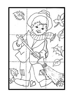 Podzimní puzzle Preschool Puzzles, Body Preschool, Fall Preschool, Preschool Worksheets, Fall Arts And Crafts, Holiday Crafts For Kids, Autumn Crafts, Autumn Art, Art Activities For Kids