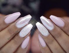 15 amazing glitter wedding nails for the bride - wedding nails - cuteweddingideas.com