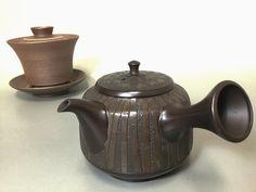 Kokudei bamboo engraved teapot by Shunen II and Yakishime Gaiwan which was made about 10 year ago. #ceramics #ceramic #pottery #teapot #kyusu #kyuusu #teatime #greentea #sencha #tea #japaneseceramics #japanesepottery #wabicha #wabipot #tokoname #instea #teaaddict #чайник #Япония #茶壶 #日本茶具