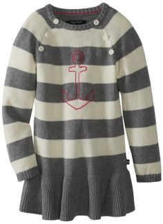 Amazon.com: Nautica Girls 2-6X Stripe Sweater Dress: Clothing