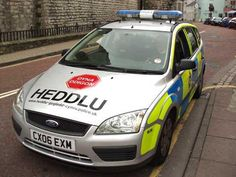 Police car in Wales