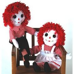 Handmade Ann and Andy Dolls