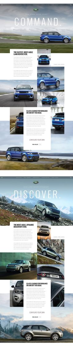 LandRover.com – Blue Style Ui redesign concept by Thomas Moeller on Behance