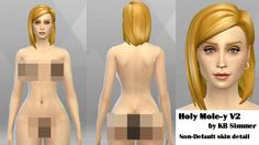 My Sims 4 Blog: Nose Freckles and Body Moles by KBSimmer