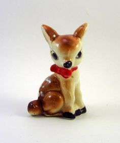 Vintage Ceramic Deer Retro Bambi Style Fawn by SenoraMuertos.