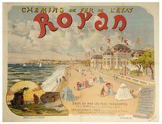 chemins de fer de l'état - Royan illustration de Léo Maxy  - 1896 -