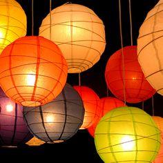 Premium Paper Lanterns by Color