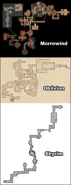 Morrowind, Oblivion, Skyrim : l'évolution en images