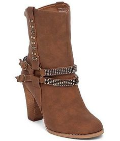 NWOB Not Rated boots Casa Blanca Tan size 9