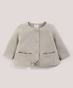 Liberty Emilias Flower Button Cardigan - Liberty Collection - Mamas & Papas